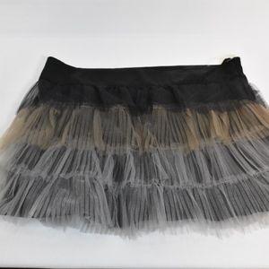 Girls Tutu Skirt Black Gray Gold L